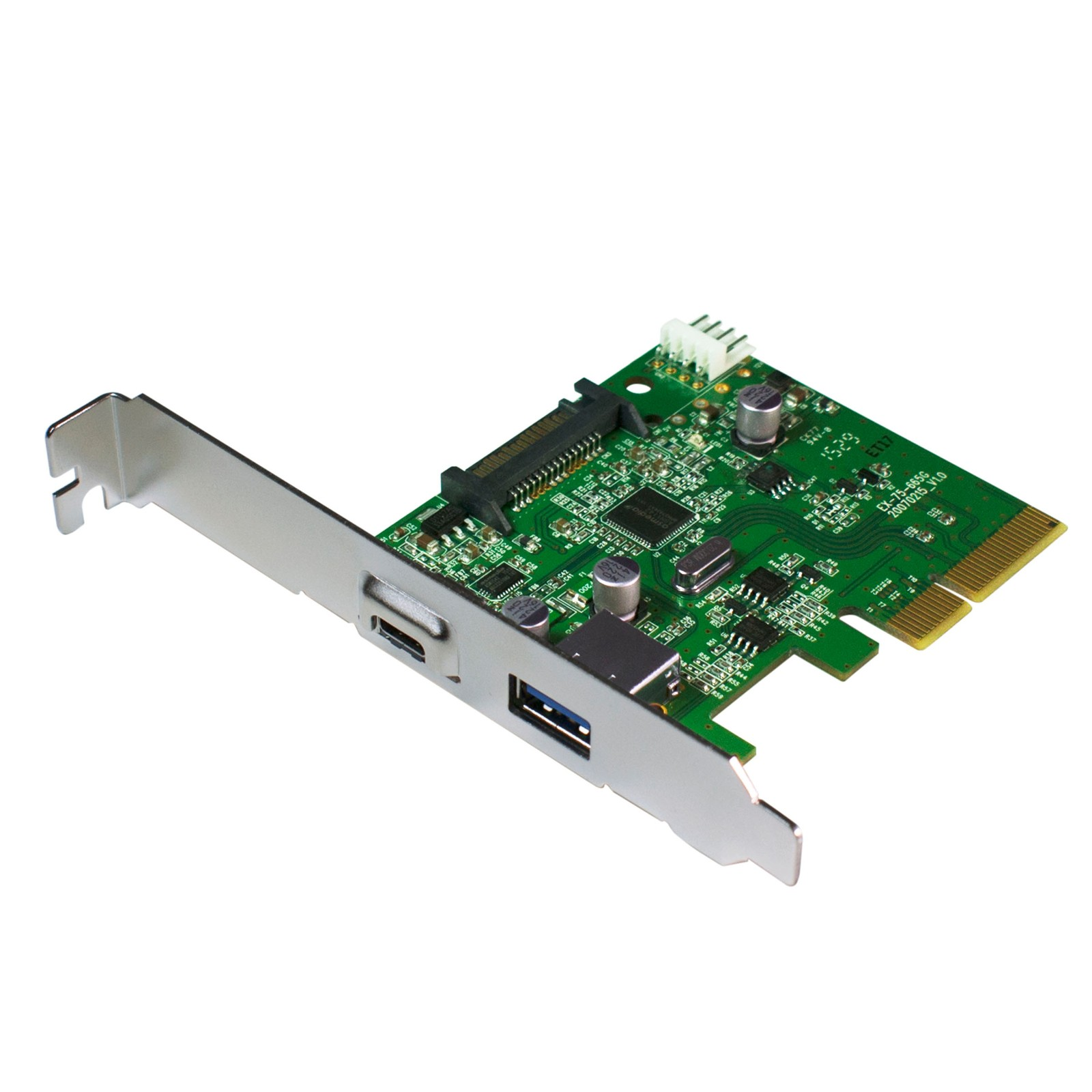 HornetTek Eagle PCIE Card to USB 3.1 Type A + Type C Ports 10 Gbps Max (HT-PCIEFAPC)
