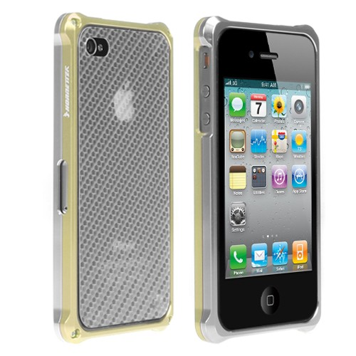 HornetTek Blazr iPhone 4 Case Silver Gold (IP4AL02-SG)