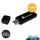 HornetTek Mini Wireless AC600 Dual Band USB LAN Adapter (HT-WAC600M)